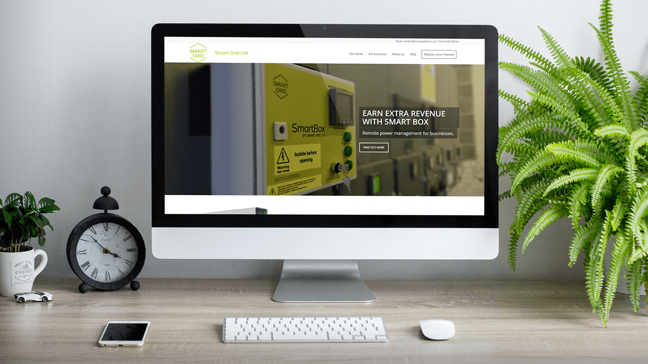 Smart Grid Website Design
