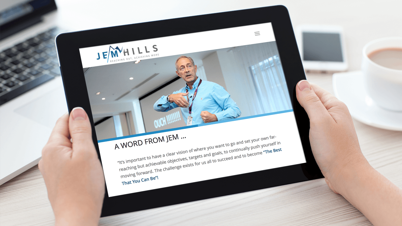 Jem Hills new Responsive Web Design on iPad